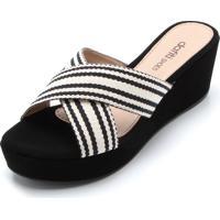 71d7329e35 Dafiti. Tamanco Dafiti Shoes Listras Preta