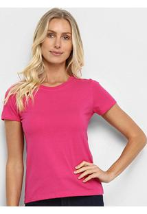 Camiseta Hering Básica Feminina - Feminino-Rosa