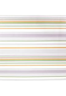 Kit 3 Rolos Papel De Parede Fwb Listras Laranja Verde Lilás E Branco - Kanui