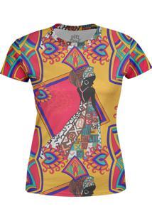 Camiseta Estampada Baby Look Over Fame Laranja
