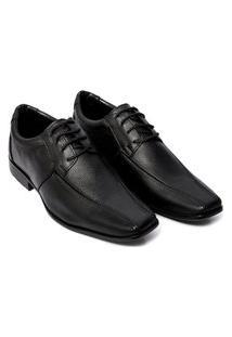 Sapato Social Masculino Bico Fino Em Couro Selten Preto 40