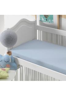 Lençol Com Elástico Baby Altenburg Malha In Cotton 100% Algodáo Bali - Azul Azul - Tricae