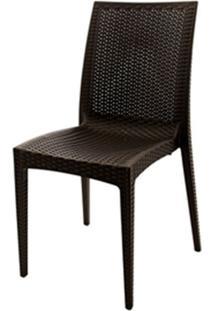 Cadeira Rattan Polipropileno Marrom - 18920 - Sun House