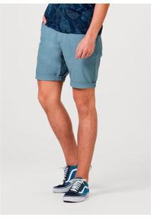 Bermuda Hering Slim Com Cinto Masculina - Masculino-Azul