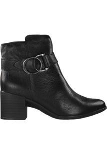 Bota Feminina Bottero Ankle Boot - Feminino-Preto