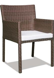 Cadeira Regata Para Área Externa Fibra Sintética Estrutura Alumínio Eco Friendly Design Scaburi