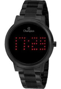 Relógio Digital Champion Ch40044D Feminino - Feminino-Preto