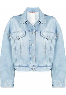 Acne Studios Jaqueta Jeans Cropped - Azul