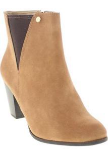 Bota Ankle Boots Via Marte Feminina - Feminino-Caramelo