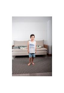 Pijama Infantil Feminino Curto Família Filho Xadrez