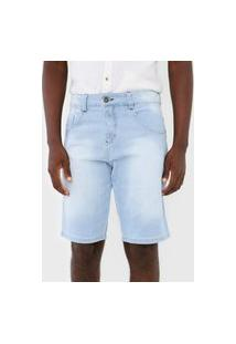 Bermuda Jeans Biotipo Reta Estonada Azul