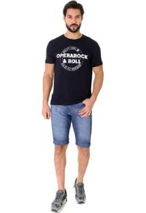 Bermuda Jeans Opera Rock Basic Masculina - Masculino-Marinho
