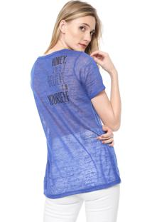 Camiseta Carmim Honey Azul