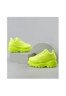 Tênis Feminino Oneself Chunky Verde Neon