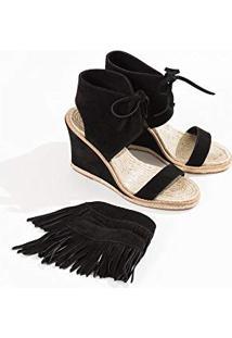 413a24d52 Anabela Franja Preta feminina | Shoes4you