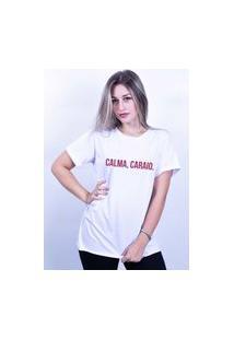 Camiseta Corte A Fio Bilhan Calmabranca