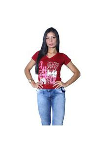 Camiseta Heide Ribeiro Estampada Love Vinho