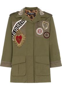 Dolce & Gabbana Jaqueta Militar Com Patches - Verde