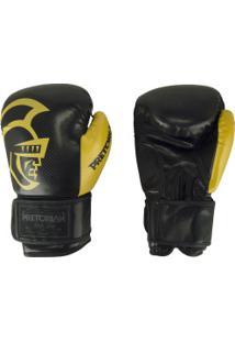 Luvas De Boxe Pretorian Black - 10 Oz - Adulto - Preto/Amarelo