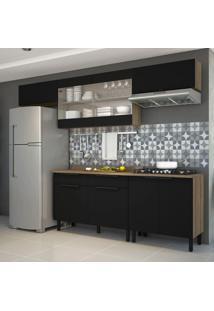 Cozinha Compacta Itamaxi 8 Pt 2 Gv Preta E Castanho