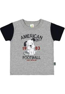Camiseta Bebê Pulla Bulla Meia Malha Masculina - Masculino-Mescla