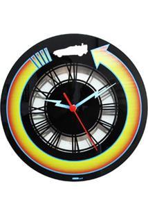 Relógio De Parede Futuro Geek10 - Preto