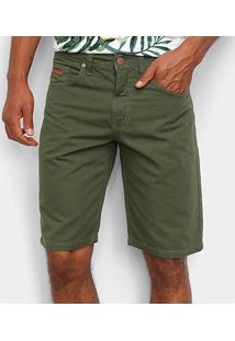 Bermuda Sarja Colcci Noah Masculina - Masculino-Verde