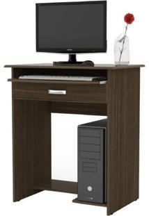 Escrivaninha / Mesa Para Computador Prática C/ Gaveta - Castanho - Ej Móveis