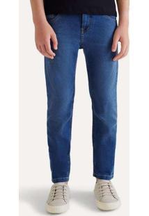 Calça Jeans Mini Dark Destroyed Azul