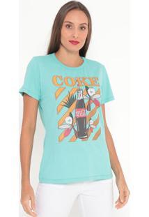 Camiseta Garrafa- Verde Água & Amarela- Coca-Colacoca-Cola
