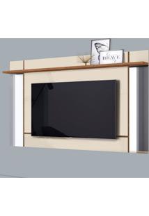 Painel Para Tv Até 65 Polegadas Malibu Off White E Nature