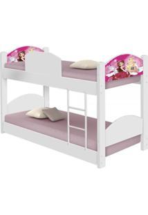 Beliche Infantil Bailarina Casah - Branco/Rosa - Menina - Dafiti