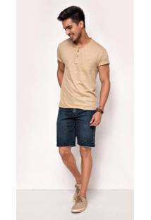 Bermuda Jeans Express Kevyn Masculina - Masculino-Azul