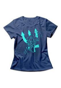 Camiseta Feminina Sailor Neptune Azul
