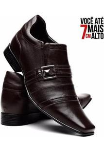 Sapato Social Venetto Over Em Couro Aumenta Altura Masculino - Masculino