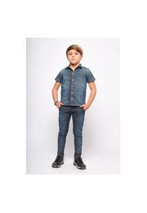 Camisa Jeans Mrx Jeans Azul