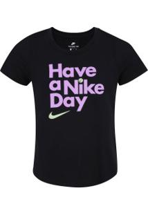 Camiseta Nike Sportswear Have A Nike Day Feminina - Infantil - Preto