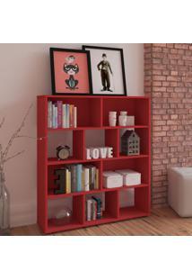 Estante Para Livros Book Vermelho - Artely