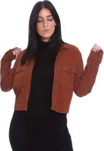 Jaqueta De Sarja Le Julie Caramelo