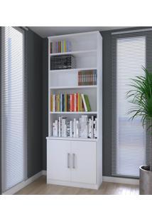 Estante Para Livros 2 Portas 1277 Branco - Foscarini