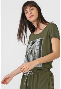 Camiseta Enfim Foto Verde - Kanui