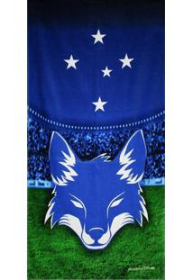 Toalha De Banho Bouton Cruzeiro Veludo Mascote