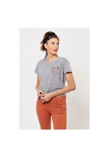 Camiseta Jay Jay Basica Sunset Girl Cinza Mescla Dtg