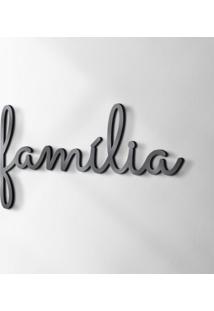 Palavra Decorativa Família Preta