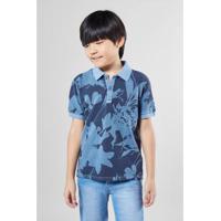 Camisa Polo Infantil Silhuetas Reserva Mini Masculina - Masculino-Azul  Petróleo 7eb28f75af828