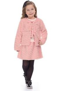 Casaco Infantil Pelo Hello Kitty Feminino - Feminino-Rosa Claro