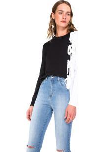 Suéter Sobreposição Com Amarração