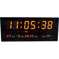 8fcdd162bea Amazon. Relógio De Parede Led Digital Termômetro Alarme E Calendário ...