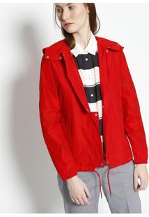 Jaqueta Com Ajuste- Vermelha- Lacostelacoste