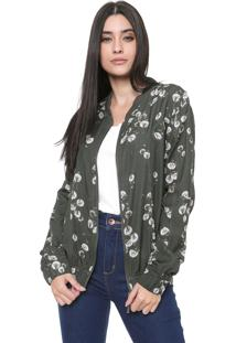 Jaqueta Bomber My Favorite Thing(S) Estampada Verde